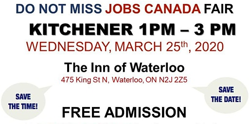 Kitchener Job Fair - March 25th, 2020