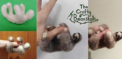 Needle Felt a Sloth