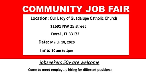 Community Job fair- BACK TO WORK 50+