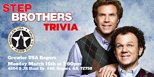 Step Brothers Trivia at Growler USA Rogers