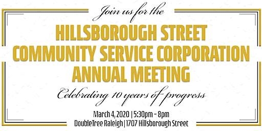 2020 Live It Up! Hillsborough Street Annual Meeting & 10 Year Anniversary