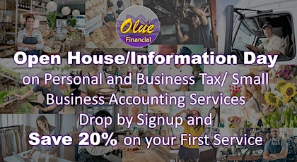 Open House/Information Day on Personal & Business Tax & Business Accounting tickets