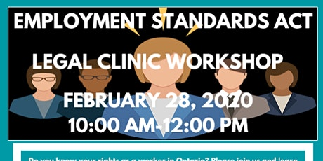 Employment Standards Act Legal Clinic Workshop tickets