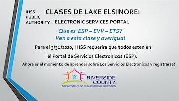 LAKE ELSINORE -  EN ESPAÑOL ~ Clases Portal de Servicios Electrónicos
