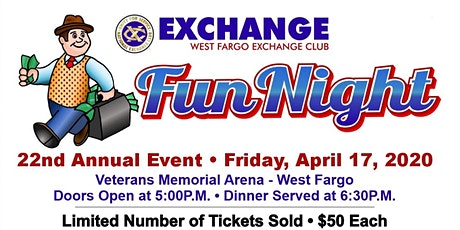 West Fargo Exchange Club's Annual Fun Night tickets