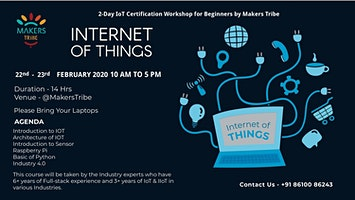 2 Days IoT Certification Workshop for Beginners