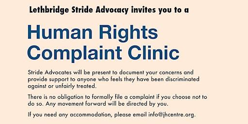 Stride Lethbridge: Human Rights Complaint Clinic