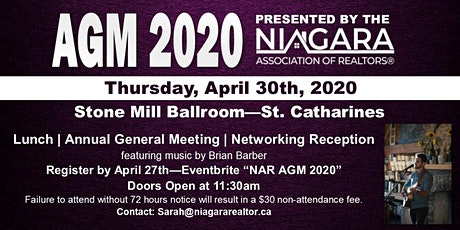 NAR AGM 2020 tickets
