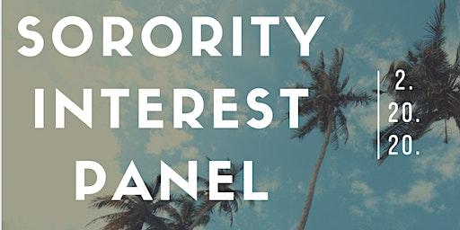ISC Sorority Interest Panel