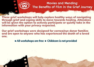 Movies and Mending - San Antonio Grief Workshop, June 20th tickets