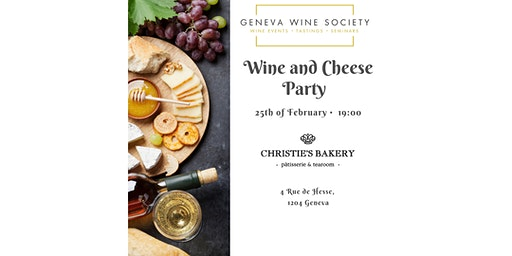 Cheese and Wine Party (SOLD OUT)