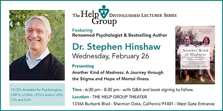 Overcoming The Stigma of Mental Illness Featuring Dr. Stephen Hinshaw tickets