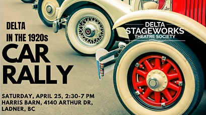 Delta in the 1920s Car Rally tickets