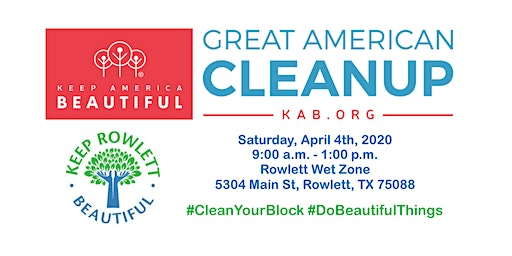 2020 Great American Cleanup - Rowlett