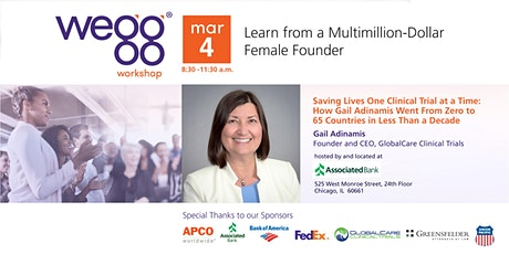 wegg® workshop - Saving Lives One Clinical Trial at a Time: How Gail Adinamis Went From Zero to 65 Countries in Less Than a Decade tickets