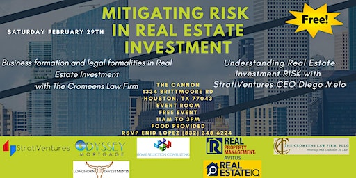 Mitigating RISK in Real Estate Investment with the experts