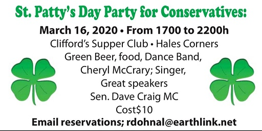 St. Patrick's Day Party by the Wisconsin Conservative Digest