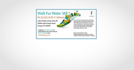San Diego Water For People - Walk for Water tickets