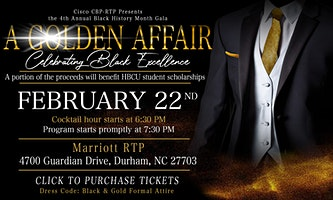 A Golden Affair: Celebrating Black Excellence hosted by Cisco CBP-RTP