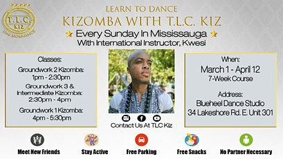 Kizomba Dance Lessons In Mississauga with Kwesi tickets