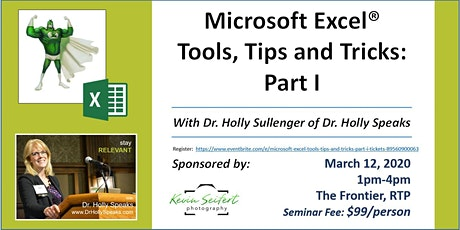 Microsoft Excel Tools, Tips and Tricks: Part I tickets