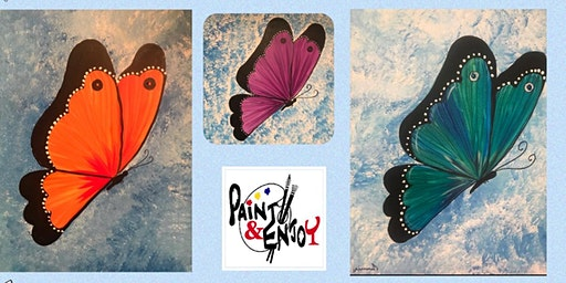 "Paint and Enjoy at Belmont Bean Co  For a Good Cause ""Butterfly"""