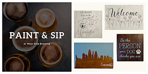 Paint & Sip | Create a Custom Wood Sign