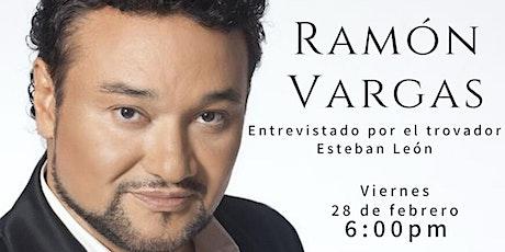 Talk with  Ramón Vargas tickets
