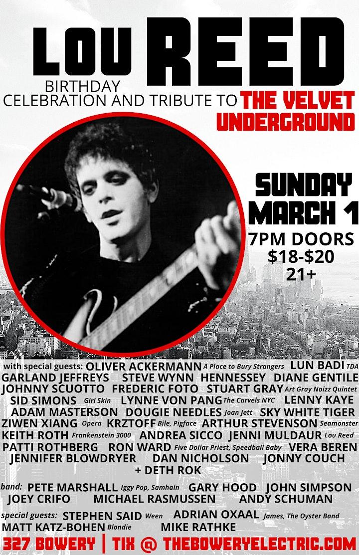 Lou Reed's Birthday Celebration image