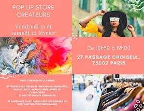 Pop up Store créateurs et petites marques parisienne billets