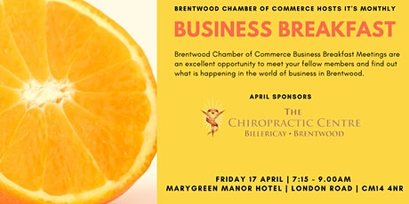 April 2020 Brentwood Chamber of Commerce Business Breakfast tickets