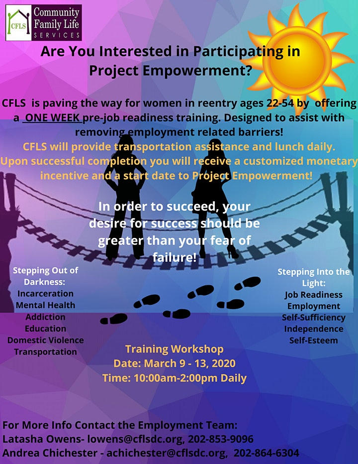 Pre-Job Readiness Training for Women in Reentry image