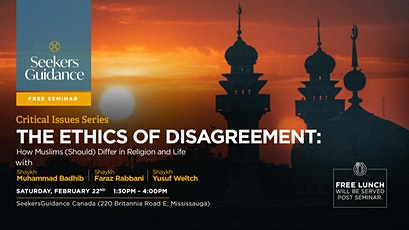 The Ethics of Disagreement: How Muslims (Should) Differ in Religion & Life tickets