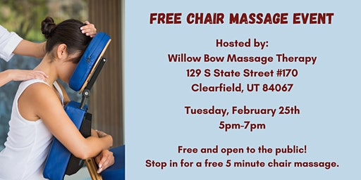 Free Chair Massage Event
