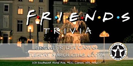 Friends Trivia at Growler USA Camas tickets