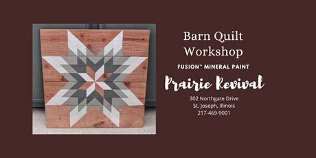 Fusion™ Mineral Paint - Barn Quilt Workshop 1 tickets