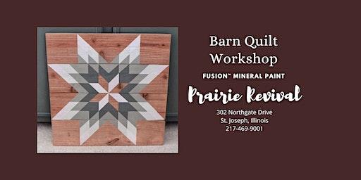 Fusion™ Mineral Paint - Barn Quilt Workshop 1