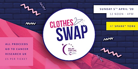 Clothes Swap - Fundraising for Cancer Research UK tickets
