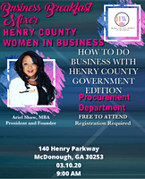 How to Do Business With Henry County Government:Procurement Edition