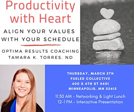 Productivity with Heart: Aligning your values with your schedule tickets