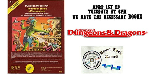 Advanced Dungeons & Dragons 1st ed. for 2020 at Round Table Games