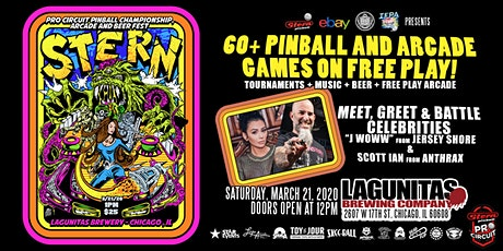 STERN PRO CIRCUIT PINBALL CHAMPIONSHIPS, ARCADE AND BEER FEST tickets