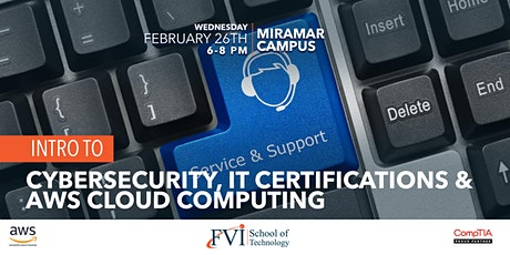 Intro to Cyber security, IT Certifications, and AWS Cloud Computing tickets
