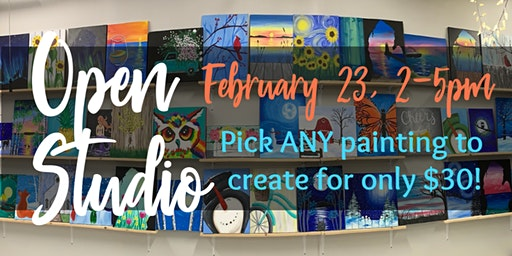 February Open Studio Paint Night!