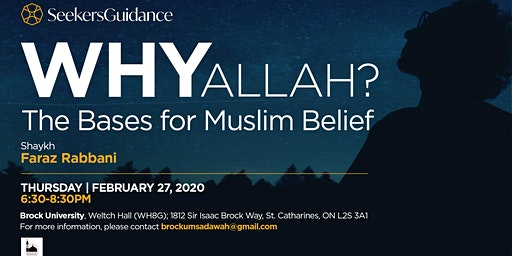 Why Allah?  The Bases for Muslim Belief