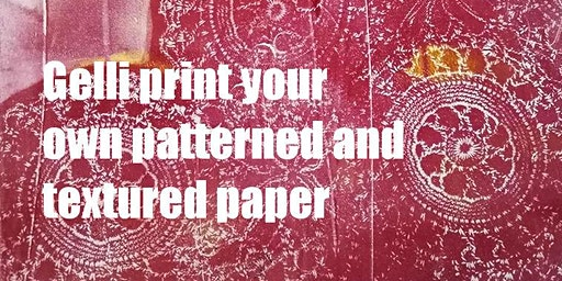 Gel print your own textured paper and patterned paper for arts and crafts