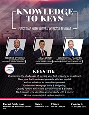Knowledge to Keys - First Time Home Buying Seminar tickets