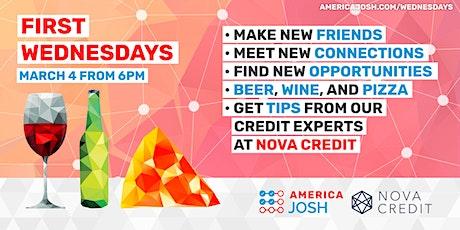 First Wednesdays: Pizza, Beer, Credit & Wine tickets