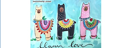 Llama Love Kids Canvas Painting Workshop- Buford