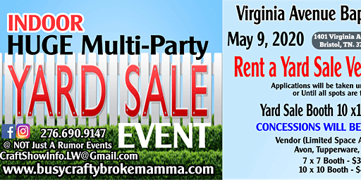 2020 NOT Just A Rumor Indoor Huge Multi-Party Yard Sale